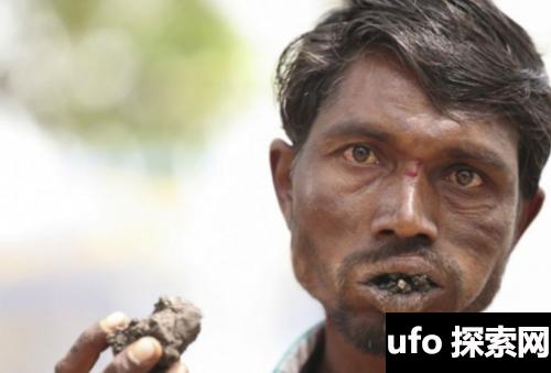 印度奇葩男子每天吃砖头3公斤,已吃20年