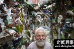 78岁艺术家用废品装点街道 共耗时14年完成
