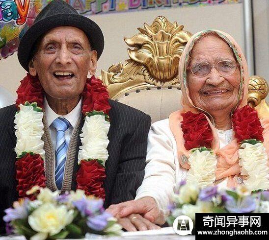世界最老夫妻:109岁丈夫和102岁妻子【图】
